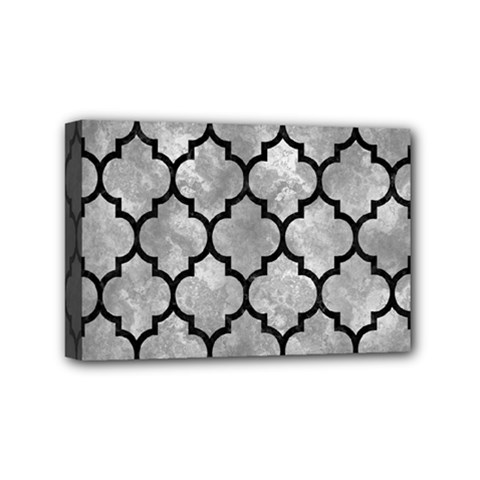 Tile1 Black Marble & Gray Metal 2 (r) Mini Canvas 6  X 4  by trendistuff