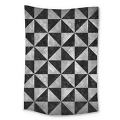 Triangle1 Black Marble & Gray Metal 2 Large Tapestry by trendistuff