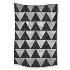 Triangle2 Black Marble & Gray Metal 2 Large Tapestry by trendistuff