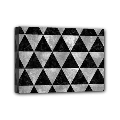 Triangle3 Black Marble & Gray Metal 2 Mini Canvas 7  X 5  by trendistuff