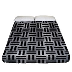 Woven1 Black Marble & Gray Metal 2 (r) Fitted Sheet (california King Size) by trendistuff
