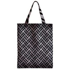 Woven2 Black Marble & Gray Metal 2 (r) Zipper Classic Tote Bag by trendistuff