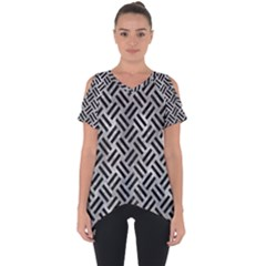 Woven2 Black Marble & Gray Metal 2 (r) Cut Out Side Drop Tee
