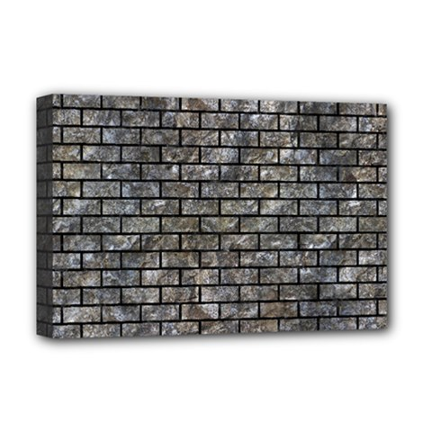 Brick1 Black Marble & Gray Stone (r) Deluxe Canvas 18  X 12   by trendistuff
