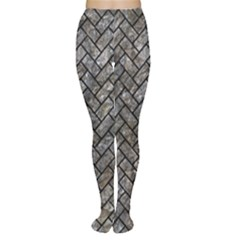 Brick2 Black Marble & Gray Stone (r) Women s Tights by trendistuff