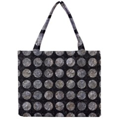Circles1 Black Marble & Gray Stone Mini Tote Bag by trendistuff