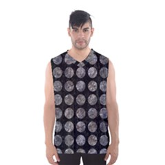 Circles1 Black Marble & Gray Stone Men s Basketball Tank Top by trendistuff