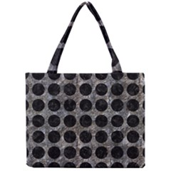 Circles1 Black Marble & Gray Stone (r) Mini Tote Bag