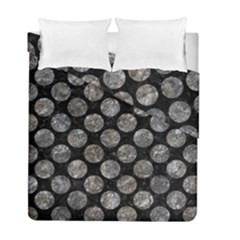 Circles2 Black Marble & Gray Stone Duvet Cover Double Side (full/ Double Size) by trendistuff