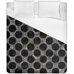 Circles2 Black Marble & Gray Stone (r) Duvet Cover (california King Size) by trendistuff