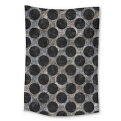 Circles2 Black Marble & Gray Stone (r) Large Tapestry by trendistuff