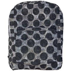 Circles2 Black Marble & Gray Stone (r) Full Print Backpack by trendistuff