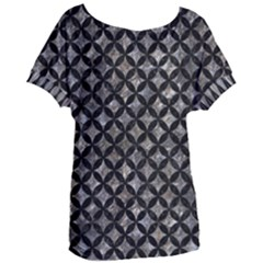 Circles3 Black Marble & Gray Stone (r) Women s Oversized Tee by trendistuff