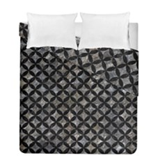 Circles3 Black Marble & Gray Stone (r) Duvet Cover Double Side (full/ Double Size) by trendistuff