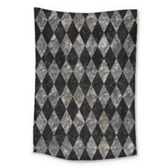 Diamond1 Black Marble & Gray Stone Large Tapestry by trendistuff