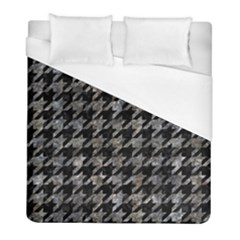 Houndstooth1 Black Marble & Gray Stone Duvet Cover (full/ Double Size) by trendistuff