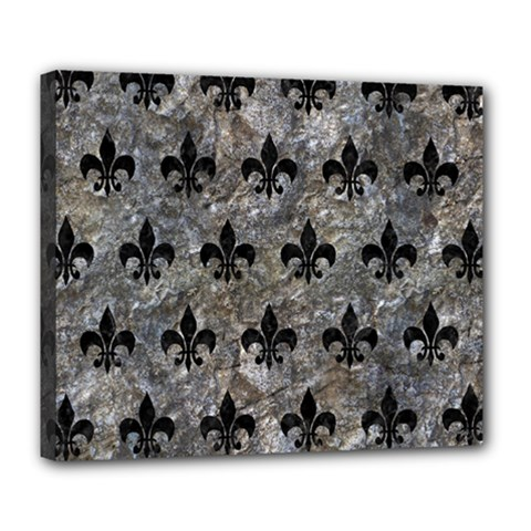 Royal1 Black Marble & Gray Stone Deluxe Canvas 24  X 20   by trendistuff