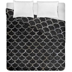 Scales1 Black Marble & Gray Stone Duvet Cover Double Side (california King Size) by trendistuff