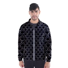 Scales2 Black Marble & Gray Stone Wind Breaker (men) by trendistuff