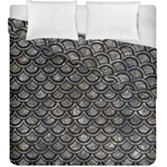 Scales2 Black Marble & Gray Stone (r) Duvet Cover Double Side (king Size) by trendistuff