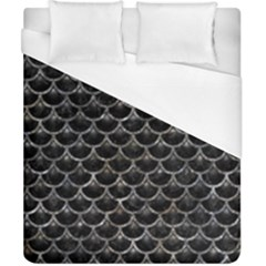 Scales3 Black Marble & Gray Stone Duvet Cover (california King Size) by trendistuff