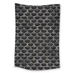 Scales3 Black Marble & Gray Stone Large Tapestry by trendistuff