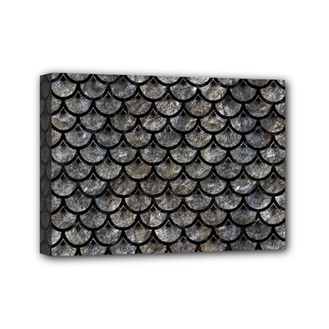 Scales3 Black Marble & Gray Stone (r) Mini Canvas 7  X 5  by trendistuff