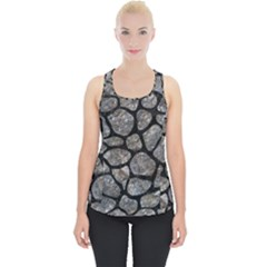 Skin1 Black Marble & Gray Stone Piece Up Tank Top