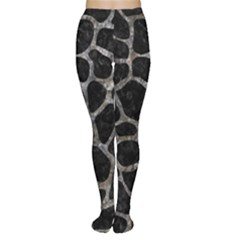 Skin1 Black Marble & Gray Stone (r) Women s Tights by trendistuff