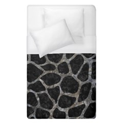 Skin1 Black Marble & Gray Stone (r) Duvet Cover (single Size) by trendistuff