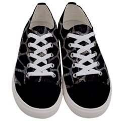 Skin1 Black Marble & Gray Stone (r) Women s Low Top Canvas Sneakers