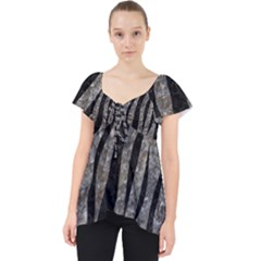 Skin3 Black Marble & Gray Stone (r) Lace Front Dolly Top