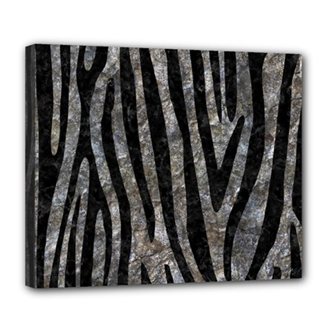 Skin4 Black Marble & Gray Stone Deluxe Canvas 24  X 20   by trendistuff