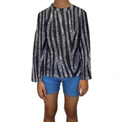 Skin4 Black Marble & Gray Stone Kids  Long Sleeve Swimwear