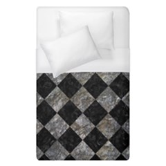 Square2 Black Marble & Gray Stone Duvet Cover (single Size) by trendistuff