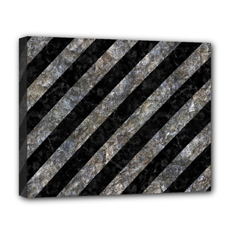 Stripes3 Black Marble & Gray Stone Deluxe Canvas 20  X 16   by trendistuff