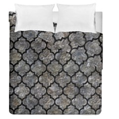 Tile1 Black Marble & Gray Stone (r) Duvet Cover Double Side (queen Size) by trendistuff