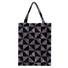 Triangle1 Black Marble & Gray Stone Classic Tote Bag by trendistuff
