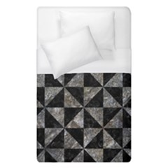 Triangle1 Black Marble & Gray Stone Duvet Cover (single Size) by trendistuff