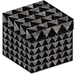 Triangle2 Black Marble & Gray Stone Storage Stool 12   by trendistuff
