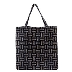 Woven1 Black Marble & Gray Stone Grocery Tote Bag by trendistuff