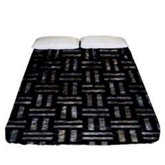 Woven1 Black Marble & Gray Stone Fitted Sheet (king Size) by trendistuff