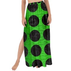 Circles1 Black Marble & Green Brushed Metal (r) Maxi Chiffon Tie Up Sarong