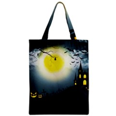 Halloween Landscape Classic Tote Bag by Valentinaart