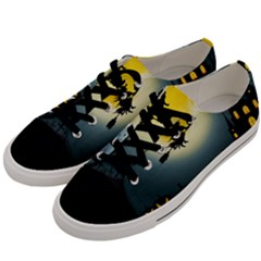 Halloween Landscape Men s Low Top Canvas Sneakers by Valentinaart