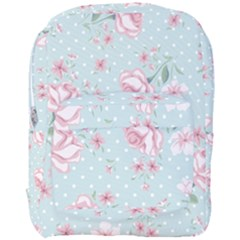 Shabby Chic,pink,roses,polka Dots Full Print Backpack by 8fugoso