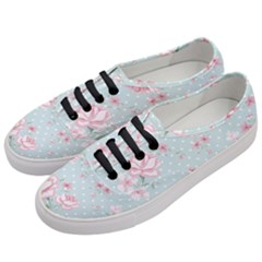 Shabby Chic,pink,roses,polka Dots Women s Classic Low Top Sneakers by 8fugoso