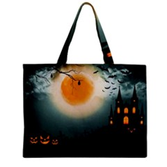 Halloween Landscape Zipper Mini Tote Bag by Valentinaart