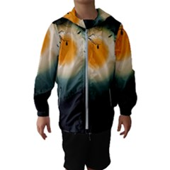 Halloween Landscape Hooded Wind Breaker (kids)