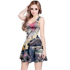 Modern Abstract Painting Reversible Sleeveless Dress by 8fugoso